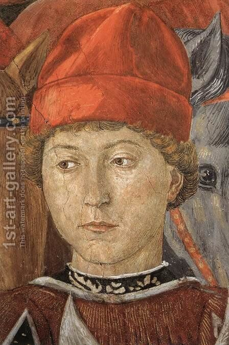 Procession of the Youngest King (detail 7) 1459-60 by Benozzo di Lese di Sandro Gozzoli - Reproduction Oil Painting