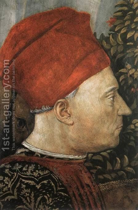 Procession of the Youngest King (detail 8) 1459-60 by Benozzo di Lese di Sandro Gozzoli - Reproduction Oil Painting