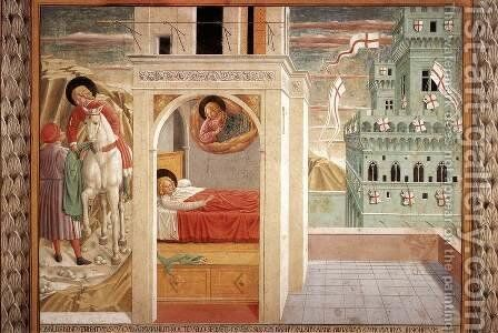 Scenes from the Life of St Francis (Scene 2, north wall) 1452 by Benozzo di Lese di Sandro Gozzoli - Reproduction Oil Painting