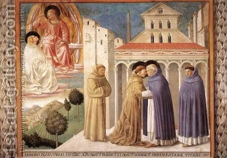 Scenes from the Life of St Francis (Scene 4, south wall) 1452 by Benozzo di Lese di Sandro Gozzoli - Reproduction Oil Painting