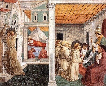 Scenes from the Life of St Francis (Scene 5, north wall) 1452 by Benozzo di Lese di Sandro Gozzoli - Reproduction Oil Painting