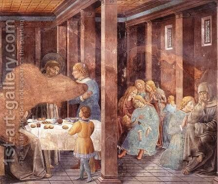 Scenes from the Life of St Francis (Scene 8, south wall) 1452 by Benozzo di Lese di Sandro Gozzoli - Reproduction Oil Painting