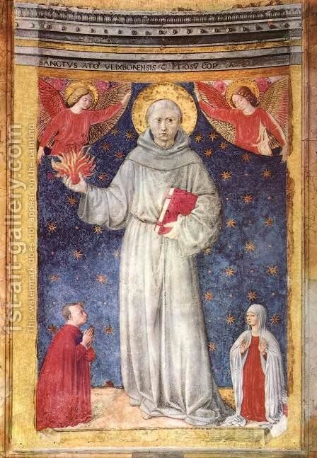 St Anthony of Padua 1450s by Benozzo di Lese di Sandro Gozzoli - Reproduction Oil Painting