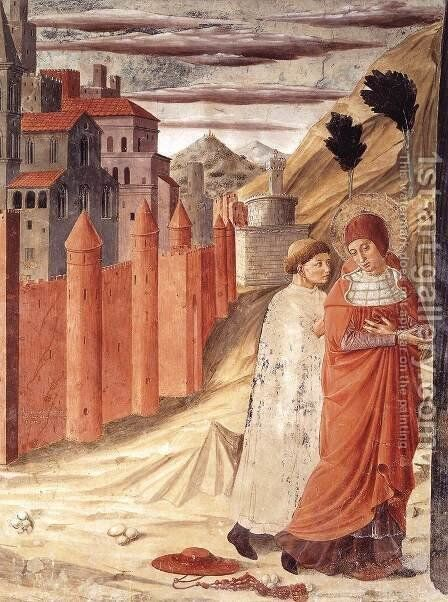 The Departure of St Jerome from Antioch 1452 by Benozzo di Lese di Sandro Gozzoli - Reproduction Oil Painting