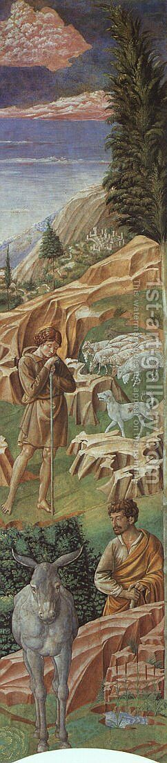 The Vigil of the Shepherds (right wall of the apse) 1459-60 by Benozzo di Lese di Sandro Gozzoli - Reproduction Oil Painting