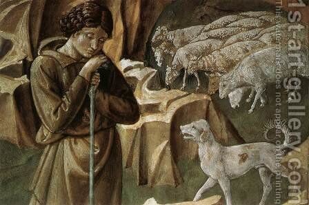 The Vigil of the Shepherds (detail) 1459-60 by Benozzo di Lese di Sandro Gozzoli - Reproduction Oil Painting