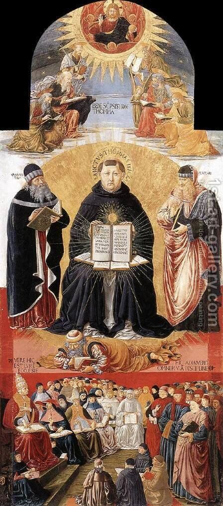Triumph of St Thomas Aquinas 1471 by Benozzo di Lese di Sandro Gozzoli - Reproduction Oil Painting