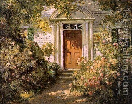 Grandmother's Doorway 1900 by Abbott Fuller Graves - Reproduction Oil Painting