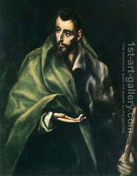 Apostle St James the Greater 1610-14 by El Greco - Reproduction Oil Painting