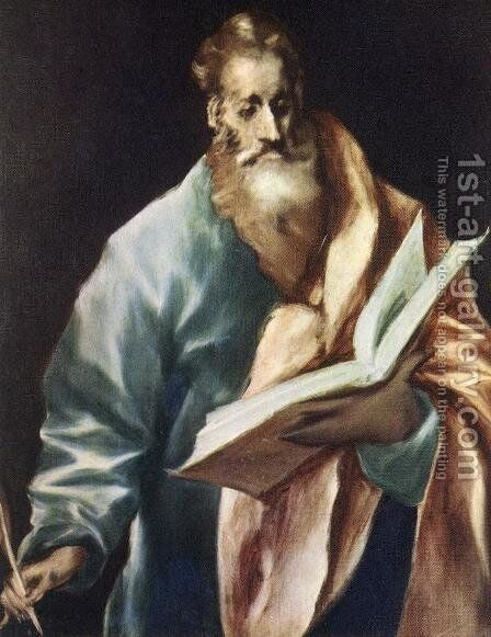 Apostle St Matthew 1610-14 by El Greco - Reproduction Oil Painting