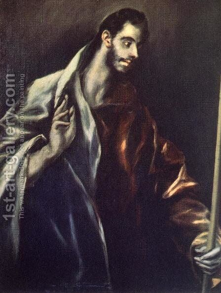 Apostle St Thomas 1610-14 by El Greco - Reproduction Oil Painting