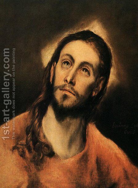 Christ 1590-95 by El Greco - Reproduction Oil Painting