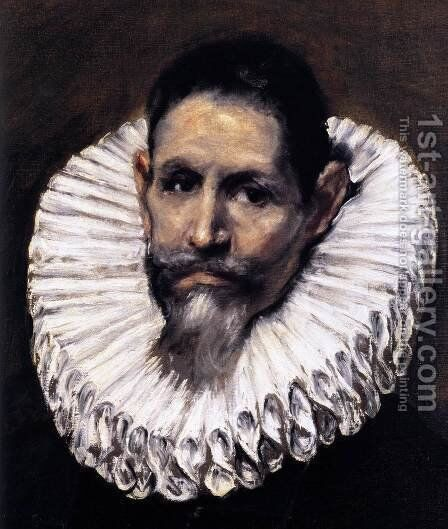 Jerónimo de Cevallos (detail) c. 1610 by El Greco - Reproduction Oil Painting