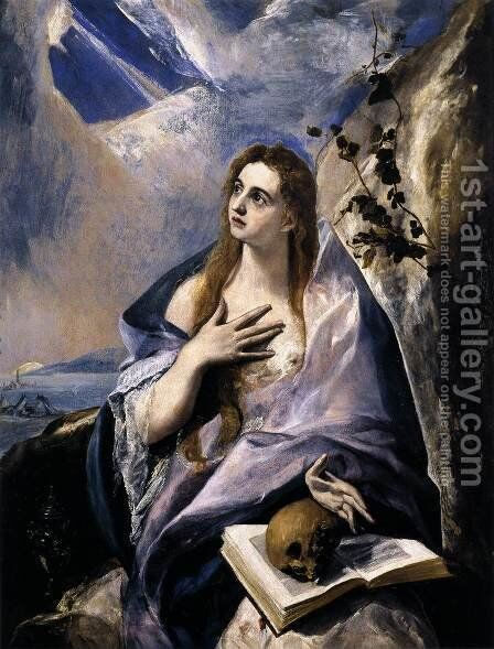Mary Magdalen in Penitence 1576-78 by El Greco - Reproduction Oil Painting