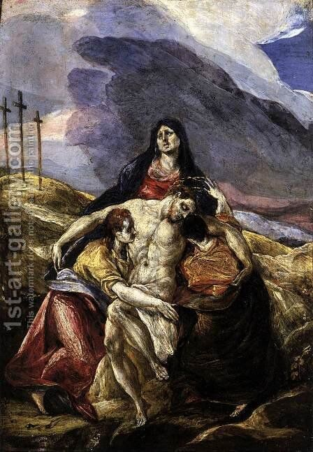 Pieta (The Lamentation of Christ) 1571-76 by El Greco - Reproduction Oil Painting