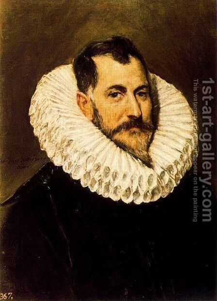 Portrait of a Gentleman 1600-05 by El Greco - Reproduction Oil Painting
