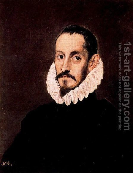 Portrait of a Man 1586-90 by El Greco - Reproduction Oil Painting