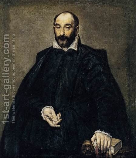 Portrait of a Man c. 1575 by El Greco - Reproduction Oil Painting
