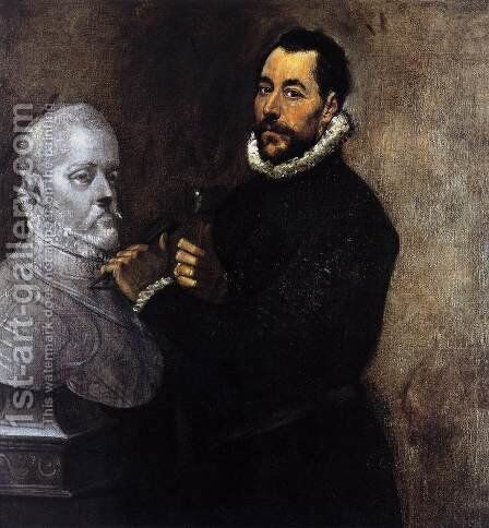 Portrait of a Sculptor 1576-78 by El Greco - Reproduction Oil Painting