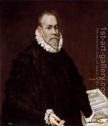Portrait of Doctor Rodrigo de la Fuente (El Médico) 1588-89 by El Greco - Reproduction Oil Painting