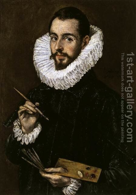 Portrait of the Artist's Son Jorge Manuel Theotokopoulos c. 1603 by El Greco - Reproduction Oil Painting