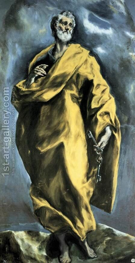 Saint Peter 1610-13 by El Greco - Reproduction Oil Painting