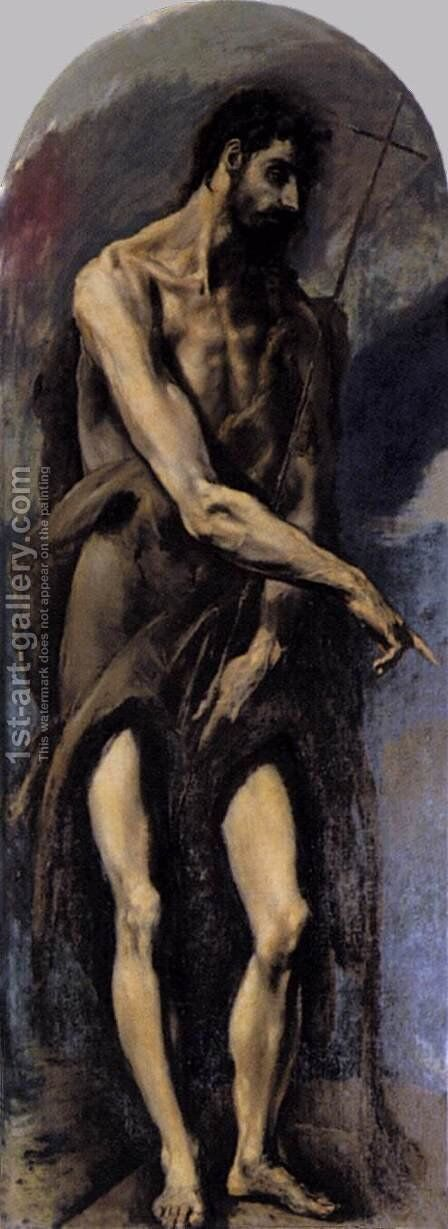 St John the Baptist 1577-79 by El Greco - Reproduction Oil Painting