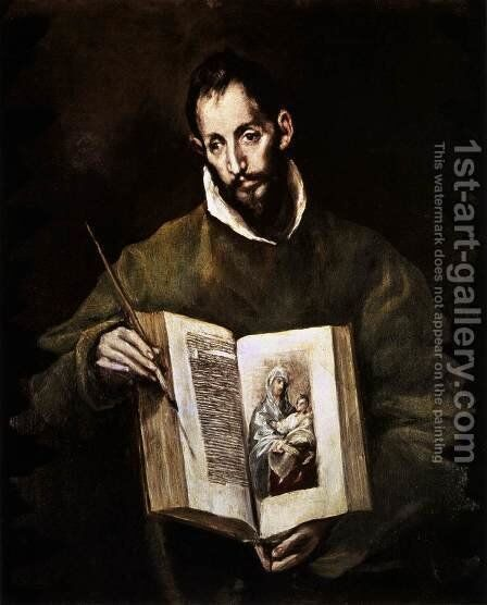 St Luke 1605-10 by El Greco - Reproduction Oil Painting