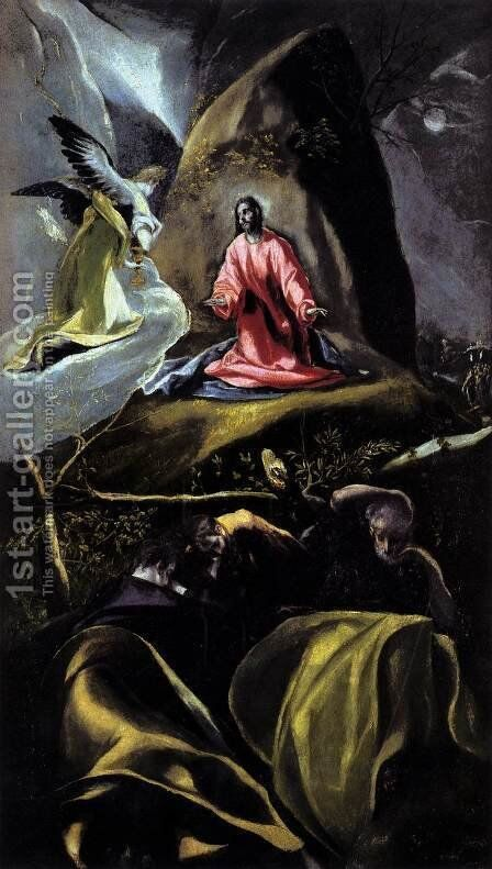 The Agony in the Garden 1600-05 by El Greco - Reproduction Oil Painting