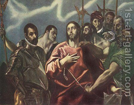 The Disrobing of Christ c. 1600 by El Greco - Reproduction Oil Painting