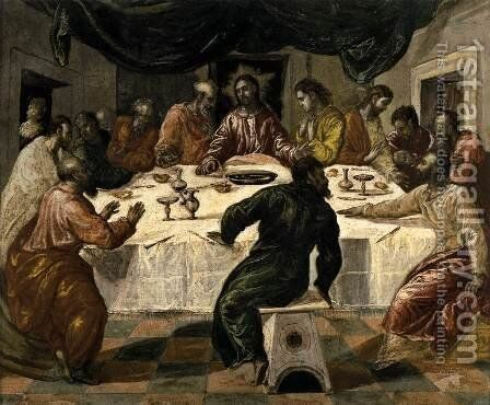 The Last Supper c. 1568 by El Greco - Reproduction Oil Painting