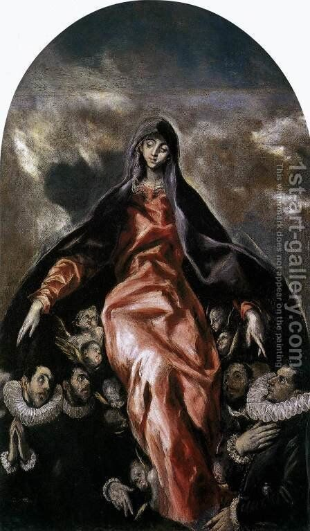 The Madonna of Charity 1603-05 by El Greco - Reproduction Oil Painting
