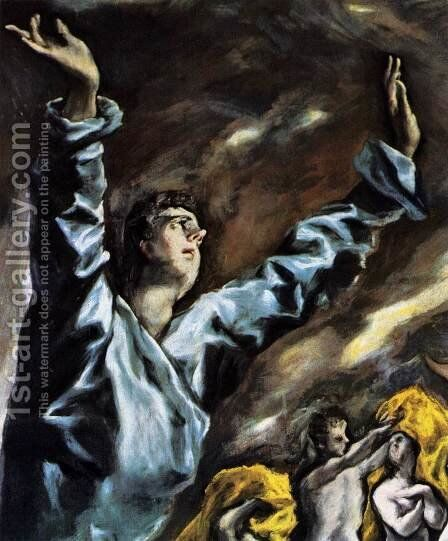 The Opening of the Fifth Seal (detail 1) 1608-14 by El Greco - Reproduction Oil Painting