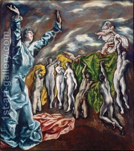 The Opening of the Fifth Seal (The Vision of St John) 1608-14 by El Greco - Reproduction Oil Painting