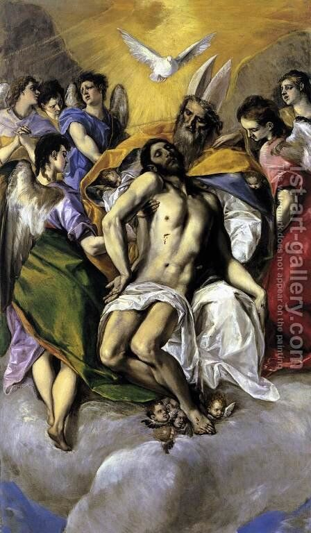 The Trinity 1577 by El Greco - Reproduction Oil Painting