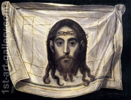 The Veil of St Veronica 1580-82 by El Greco - Reproduction Oil Painting
