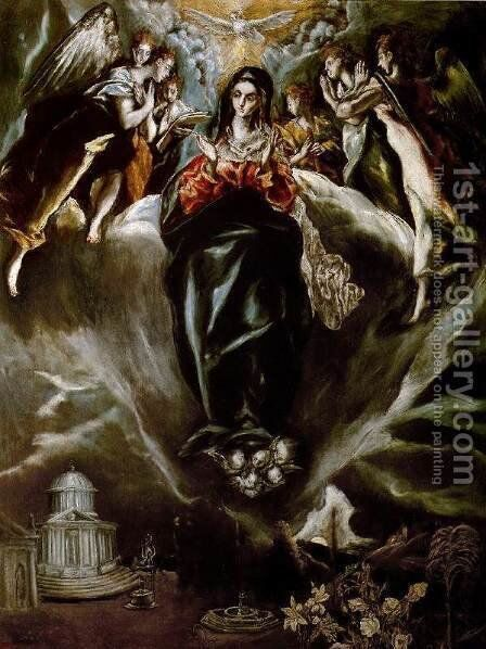 The Virgin of the Immaculate Conception 1605-10 by El Greco - Reproduction Oil Painting