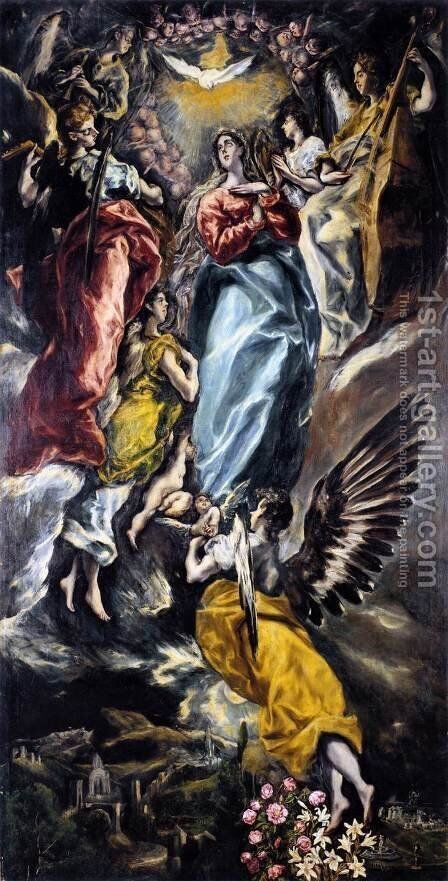 The Virgin of the Immaculate Conception 1608-13 by El Greco - Reproduction Oil Painting