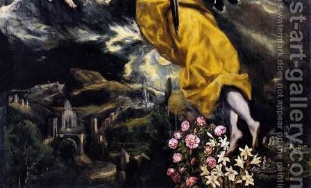 The Virgin of the Immaculate Conception (detail 3) 1608-13 by El Greco - Reproduction Oil Painting