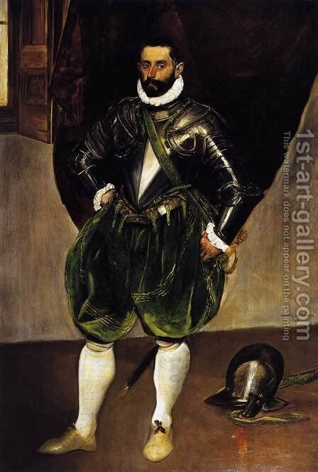 Vincenzo Anastagi 1571-76 by El Greco - Reproduction Oil Painting