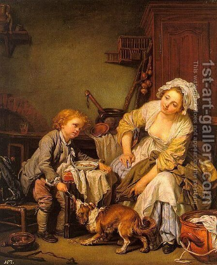 The Spoiled Child  1765 by Jean Baptiste Greuze - Reproduction Oil Painting
