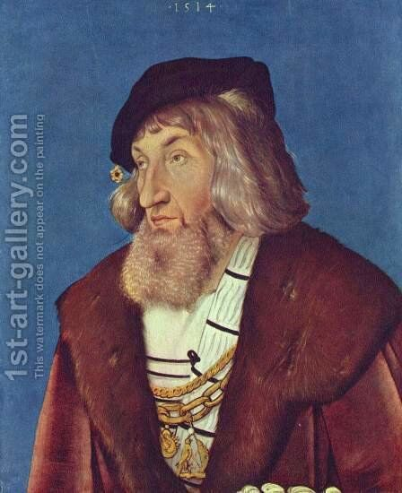 Portrait of a Man by Hans Baldung  Grien - Reproduction Oil Painting