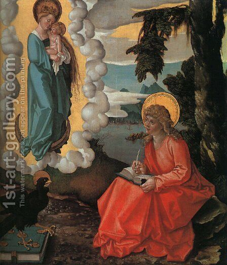 Saint John on Patmos 1511 by Hans Baldung  Grien - Reproduction Oil Painting