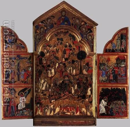 Triptych by Grifo Di Tancredi - Reproduction Oil Painting
