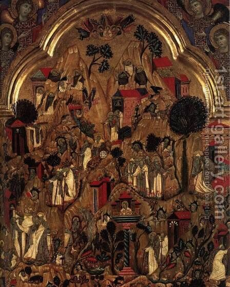 Triptych (detail) by Grifo Di Tancredi - Reproduction Oil Painting