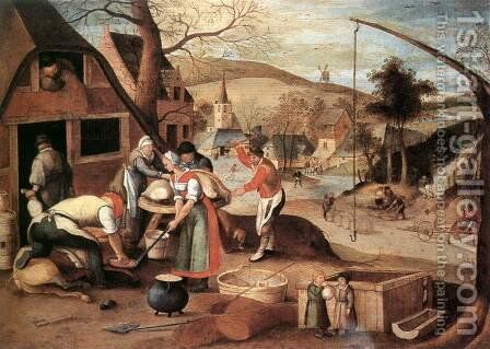 Autumn 1607 by Abel Grimmer - Reproduction Oil Painting
