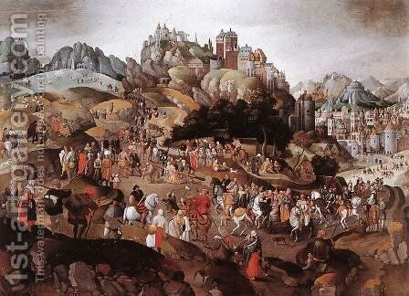 Carrying the Cross 1593 by Abel Grimmer - Reproduction Oil Painting