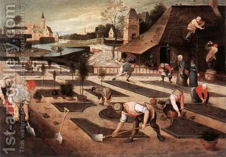 Spring 1607 by Abel Grimmer - Reproduction Oil Painting
