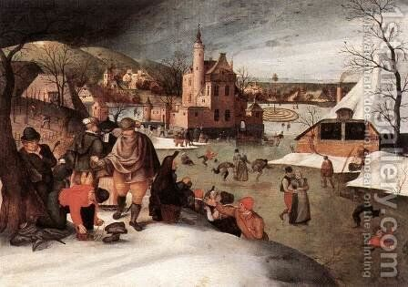 Winter 1607 by Abel Grimmer - Reproduction Oil Painting