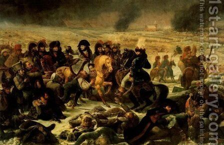 Napoleon Bonaparte on the Battlefield of Eylau 1807,  1808 by Antoine-Jean Gros - Reproduction Oil Painting
